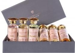 Prepojenie šiestich parfumových extraktov 6 x 15 ml
